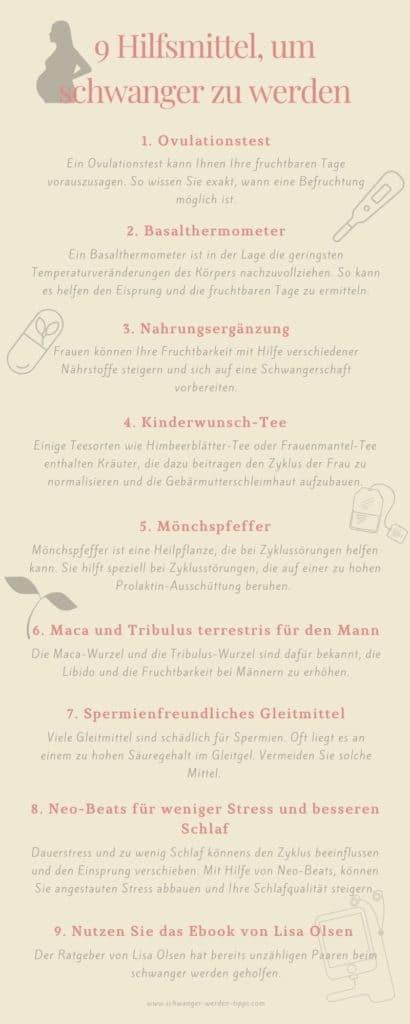 9 Hilfsmittel, um schwanger zu werden